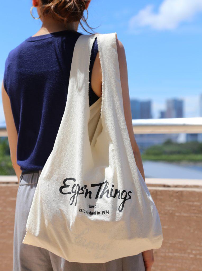 Eggs 'n Thingsで販売しているオリジナルエコトートバッグ