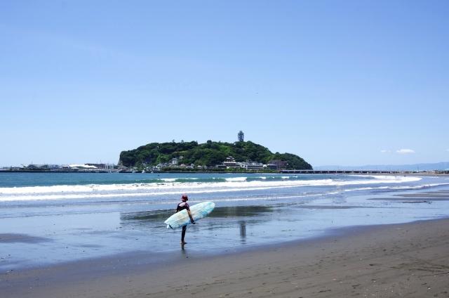 江の島 砂浜 海岸